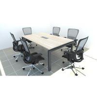 Mesa de reunión modelo corchete
